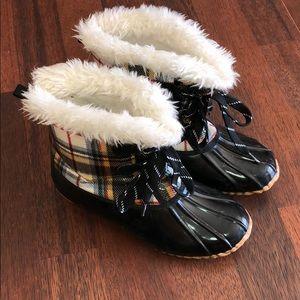 Sporto Kim Cream Blue Faux Fur Snow Boots